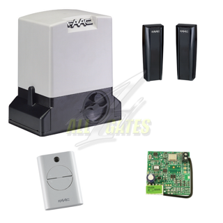 Complete kit for sliding gates faac 740 delta electric for Faac delta 2 740 kit